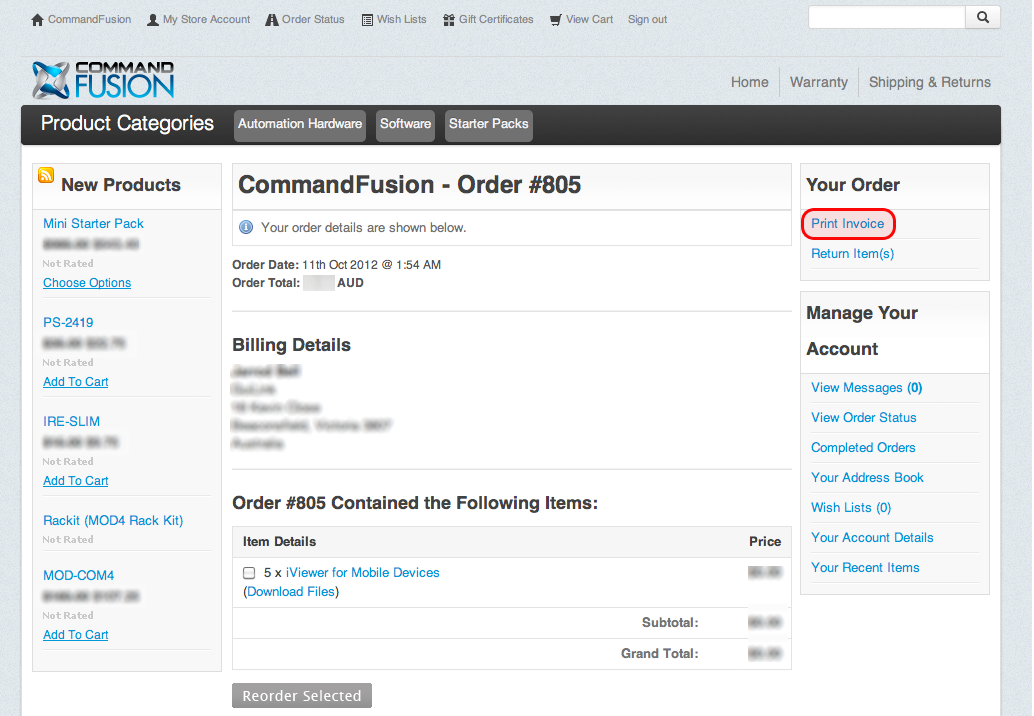Viewing And Printing Invoices [Commandfusion Wiki]