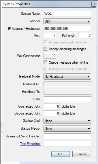 Wake On LAN (WOL) [CommandFusion Wiki]
